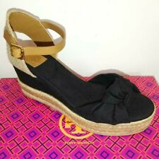 b44da72dc Tory Burch Knotted Bow Wedged Espadrille Sandal - Black US Size 6