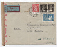 1943 WWII Turkey censored cover to Berlin [y1766]