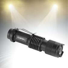 7W CREE Q5 LED 3500lm Mini ZOOMABLE Flashlight Torch 14500/AA Black WT
