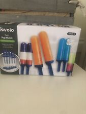New listing Tovolo 4 Piece Twin Ice Pop Molds Set Popsicle Frozen treat for Kids Kitchen,New