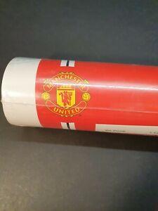Vintage Official Manchester United White Wallpaper Full Roll; 1997; Never Opened