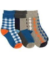 Jefferies Socks Boys Crew Patterned Black Size 8 9.5 Shoe Size 12 6.5