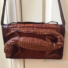 Crocodile - Alligator Handbag Purse Taxidermy Unique Vintage Rare