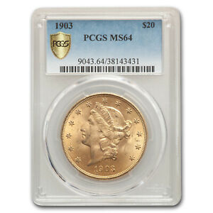 1903 $20 Liberty Gold Double Eagle MS-64 PCGS - SKU #78021