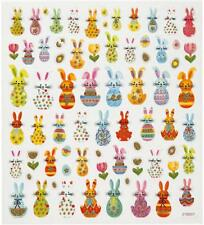 Fancy Self Adhesive Glitter Easter Bunny Stickers Sheet For Card Christmas Craft