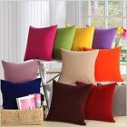 Candy Color Pillow Case Sofa Home Decor Throw Square Car Cushion Cover 45*45cm