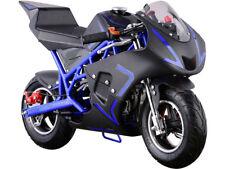 00004000 MotoTec Cali Gas Pocket Bike 40cc 4-Stroke Blue 40cc Blue