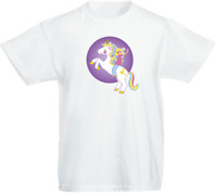 unicornio 02 Infantil Niños Personalizado Camiseta Niña Regalo De Cumpleaños