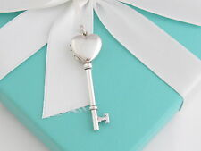 Tiffany & Co Silver Heart Key Locket Necklace Packaging Included