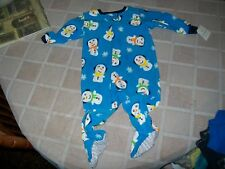 NWT Carter's Fleece Blue Snowman Sleeper Size 18 Months