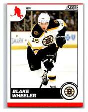 (HCW) 2010-11 Score Glossy #73 Blake Wheeler Bruins Mint