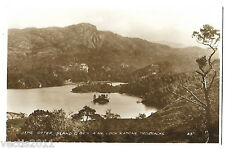 Otter Island & Ben A'An Trossachs, Stirlingshire, Scotland real photo Postcard