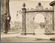 ND. France, Nancy, La Place Stanislas Vintage albumen print. Tirage albuminé