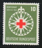Germany 1953 MNH Mi 164 Sc 696 Henri Dunant,Red Cross,Compass,medical **
