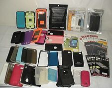 LOT LCD SCREEN PROTECTORS & OTTER CASES for old iPhone Blackberry etc. OBSOLETE
