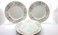 Floral and Gold Rimmed Salad/Bread & Butter Plates Lot of 4 Made in China