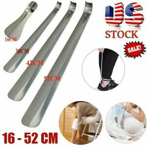 US Long Adjustable Handle Shoe Horn Professional Stainless Steel Metal Shoehorn