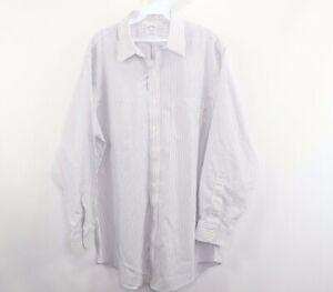 Brooks Brothers Mens 16.5 33 Non Iron Slim Fit Long Sleeve Dress Shirt Striped