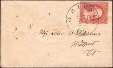 U.S., 1851. Cover 10A, Yankee Jims - Piqua, OH