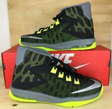 Nike Air Devosion GS Basketball Shoes 845081-005 Black Volt Green SIZE 6Y