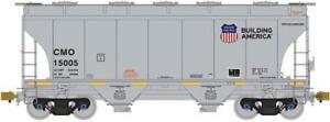 American Limited Models 1012 HO CMO 3281cf 2-Bay Covrd Hopper #15296