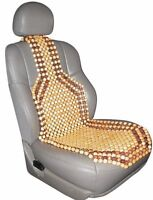 Sumex Universal Brown 100% Natural Wood Wooden Car Back Support Seat Cover #05