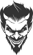 Detailed Devil vinyl decal sticker satan goth metal lucifer horror halloween