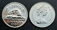 Canada 1980 Proof Like Gem Five Cent Nickel!!