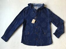 Brooks Brothers Navy Blue Yacht Ships Wheel Hooodie Jacket Coat Mens Small *NEW*