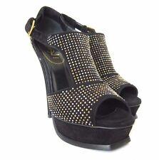 "S-370196 New Yves Saint Laurent 5"" Platform TStrap Shoes Size US-10/marked 40"