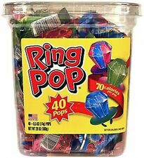 Topps Assorted Ring Pops, Candy, Suckers, Lollipops (Pack of 40) FREE SHIPPING