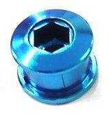 Set of Single Speed Track Fixie Fixy Chainring Bolts (5) Stud Anodized BLUE