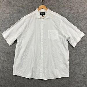 Rodd & Gunn Mens Button Up Shirt Size 3XL White Short Sleeve Collared 306.32