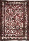 Vintage Geometric Malayer Oriental Hand-Knotted All-Over 4x5 Wool Area Rug IVORY
