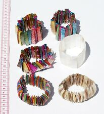 Lot 3 Colored Bracelets Hand Crafted Peruvian Ethnic Jewelry Trade Trading Sales