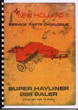 "New Holland ""Super Hayliner 286"" Baler Illustrated Service Parts Catalogue Book"