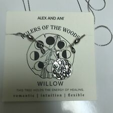 """ALEX AND ANI """"WILLOW""""  NECKLACE - RULERS OF THE WOODS COLLECTION NWT! RUS SILVER"""