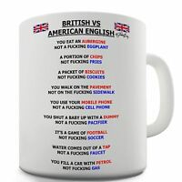 Twisted Envy British vs American English Grammar Ceramic Coffee Mug