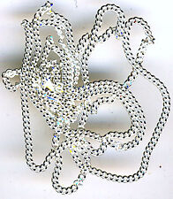 """18"""" Sterling Silver Diamond Cut Curb Chain approximately 18"""" (457mm)"""