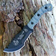 Couteau TOPS Tom Brown Tracker 4 Acier 1095 Manche Micarta Made USA TPTBT040RMT