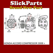 Compresor Bomba Honda Accord 2.0 gasolina 2008 2009 2010 2011 2012 2013 2014 2015