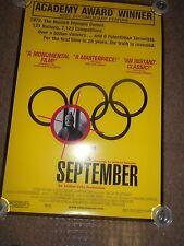 ONE DAY IN SEPTEMBER (2000) DOCUMENTARY ORIGINAL ONE SHEET POSTER+