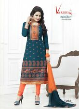 Embroidered Diwali Offer Ethnic Indian Cotton Salwar Kameez Unstitched Pakistani