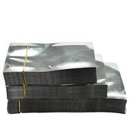 100X Silver Aluminum Foil Mylar Bag Vacuum Bags Sealer Food Storage Package BF