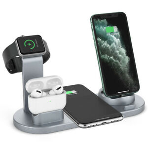 Wireless Charger 4 in 1 Charging Stand For iPhone Apple Watch, Air Pods Samsung
