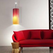 Design ceiling hanging lamp living dining room pendant light glass red orange