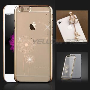 Crystal Diamond Sexy High-heel Shoe Anti-Dust Ear Cap iPhone 6s Plus Bling Case