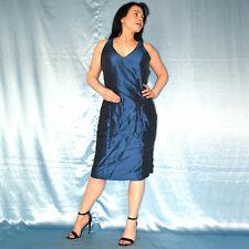 blau schimmerndes COCKTAILKLEID* M * Minikleid* Maxikleid* Etuikleid* Abendkleid