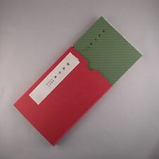 JAPANESE GOSHUIN NOTE BOOK,photo album,scrapbook and  CASE,letterpress printing.