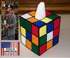 Rubik's Rubiks Rubix Cube Tissue Box Cover Seen on Big Bang Theory Style 3 Hand